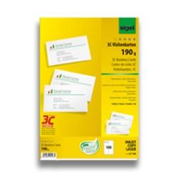 Tarjetas de visita recicladas, troqueladas, 100etiquetas. (1ud)