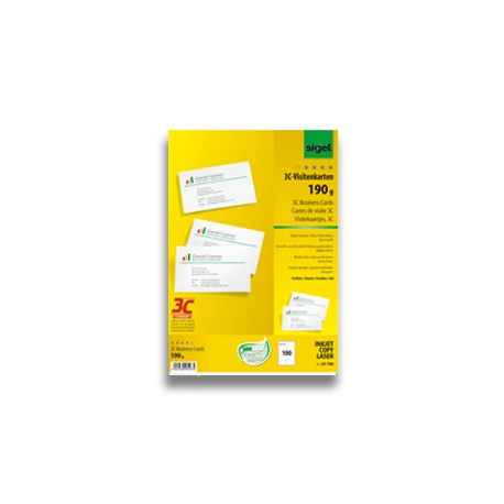 Tarjetas de visita 190gr. Troqueladas, 100 tarjetas.(1ud)
