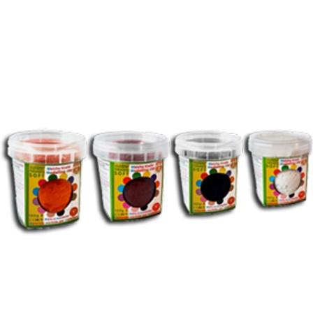 Plastilina blanda 4 colores complementarios