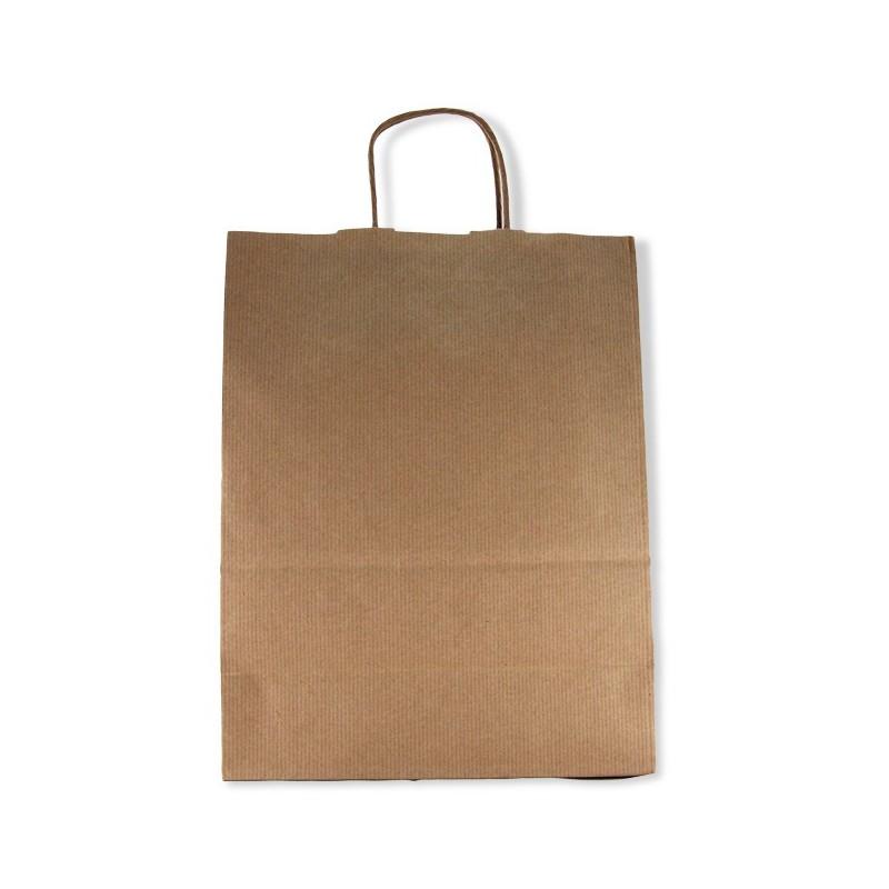 Bolsa asas papel marrón 28x33x12cm
