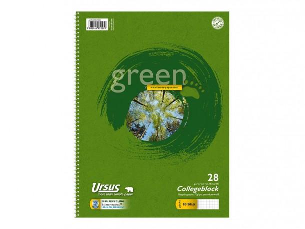 Cuaderno reciclado A4, con espiral lateral. (1ud)