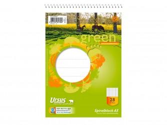Cuaderno reciclado A5, con espiral superior. (1ud)