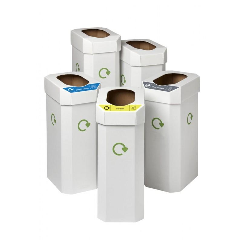 papelra reciclaje x 5