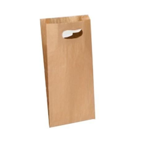 Bolsa papel asa troquelada 18x6x32cm.