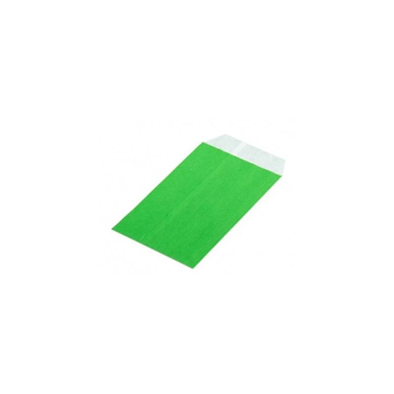 Sobre de papel verde 8x15cm. (250ud)