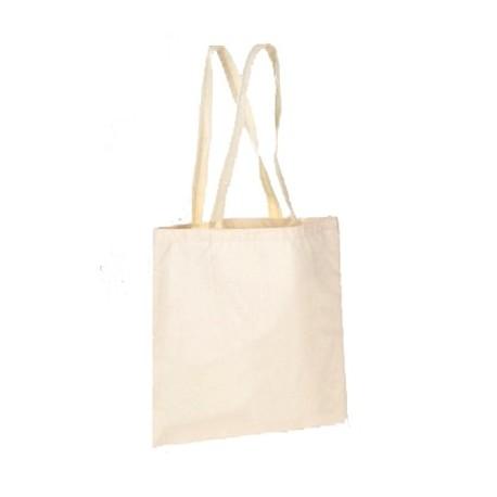 Bolsa de algodón orgánico con asa larga 35x35cm. (25ud)