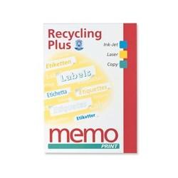 Etiquetas recicladas, A4, 210X297mm, 100 etiquetas. (1ud)