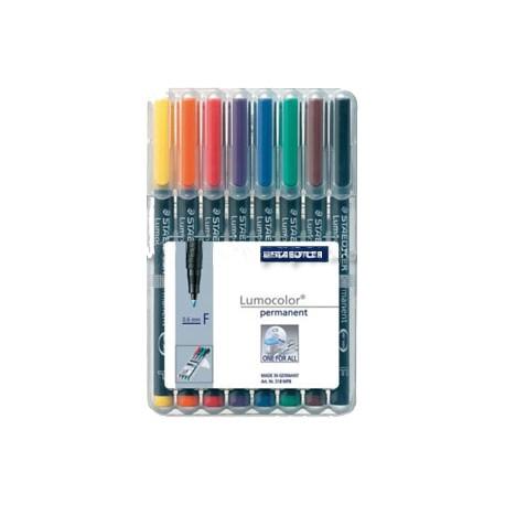 Rotuladores permanentes reciclados, 8colores (1ud)