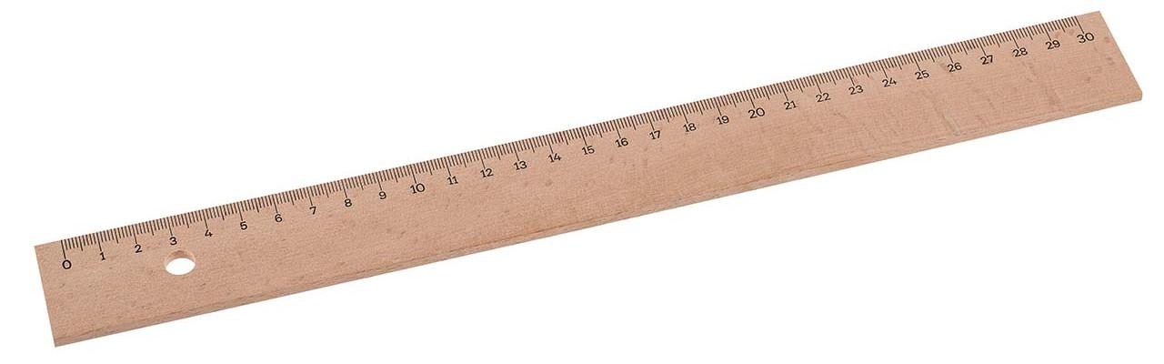 Regla de madera 30cm
